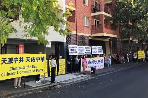 譴責中共侵犯香港法輪功學員的言論自由